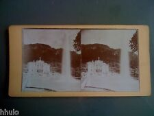 STC002 Belle demeure jet d'eau montagne a situer stereoview photo STEREO