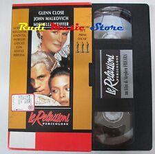 film VHS  LE RELAZIONI PERICOLOSE Glenn Close  L'UNITA' CARTONATA(F21***) no dvd