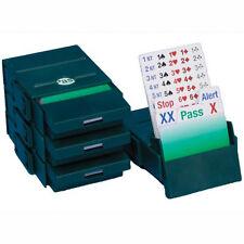 Bridge Partner Bidding Boxes - Green - Set of 4