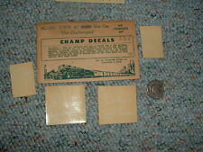 Champ decals HO HC-154 CNW 40' box car The Challengers  E71