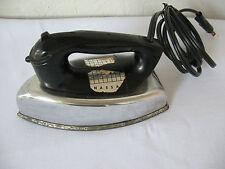 Vintage Children's NASSAU ELECTRIC TOY IRON 1950s Mini Style GE Silver & Black