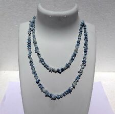"Blue Opal Necklace Jewellery Chip Nugget Beads 34"" 99Cts Natural Genuine"