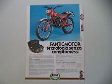advertising Pubblicità 1982 MOTO FANTIC TRIAL 240 PROFESSIONAL