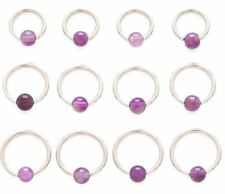 Ear Amethyst 16g (1.2 mm) Body Piercing Jewellery