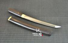 Handmade 1095 Steel Shirasaya Japanese Sword Full Tang Tanto Ebony Saya Dagger