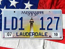 MISSISSIPPI license licence plate plates USA NUMBER AMERICAN REGISTRATION