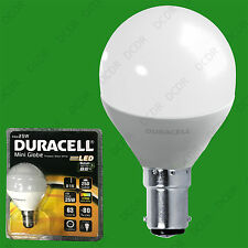 2x 4W (=25W) Duracell LED Frosted Mini Globe B15 SBC Round G45 Light Bulb Lamp