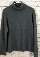 Charter Club gray 100% cashmere sweater womens XL turtleneck B5