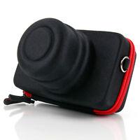 Black & Red Camera Case For Sony Alpha A5000, Cybershot HX60 & RX100 III Cameras