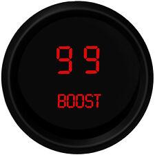 "DIGITAL BOOST GAUGE Intellitronix RED w/ Black Bezel 2 1/16"" & Sender USA Made"
