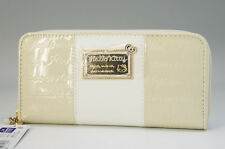 NEW HELLO KITTY Bi-Fold Round Zipper Wallet Milky White NEW Free Ship _JP 608f10