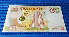 1996 Singapore 25th Anniversary of MAS $25 Commemorative Note 101414 Nice Number