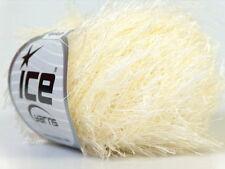 Lot of 8 Skeins Ice Yarns EYELASH Knitting Wool Cream