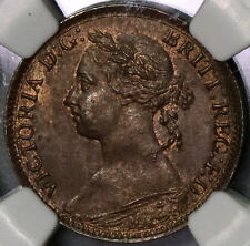 1884 NGC MS 65 Victoria Farthing GREAT BRITAIN Coin POP 1/1 (16110216C)