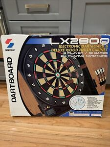Sportcraft Electronic Dart Board With Cabinet & Darts Brand New LX2800