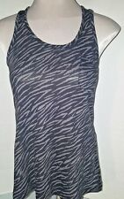 Womens Jrs Size S black flowy Tank Top Zebra Silver Miley brand Not Worn rayon