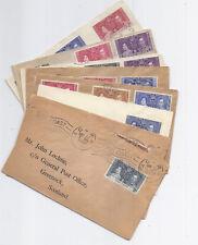 1937 Royal Coronation FDC Lot of 8 - Gold Coast, Leeward Islands, Gambia, Fiji*