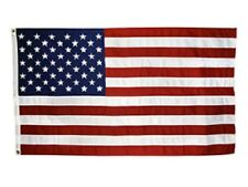 American Flag, 100% Made in U.S.A. 3x5' all-weather nylon, embroidered stars