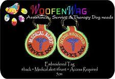 K9 Embroidered Service Dog  DOG TAG  -  Key Ring