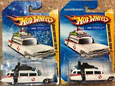 2010 Hot Wheels GHOSTBUSTERS ECTO-1 LOT X2  Snowflake Target Exclusive + REGULAR