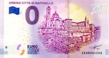 ITALIE Urbino, Città di Raffaello, 2018, Billet 0 € Souvenir
