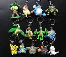 lot 12 Pocket Monster Pokémon Pokemon Pikachu keychain keyring figure 3Cm- 5cm