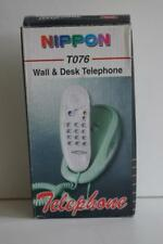 NIPPON WALL AND DESK TELEPHONE T076 IN MARBLE-RED.