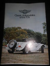 Prospetto SALES BROCHURE Panther Classic Automobiles of the 70's J 72 tecnico