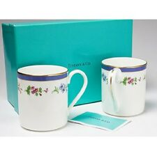 TIFFANY &Co Floral pair Flower Mug set / Teacups Tableware from Japan F/S