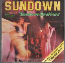 """SUNDOWN SUNDOWN EMOTIONS / SUNDOWN PART TWO 7"""" 45 GIRI"""