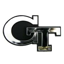 Georgia Tech University Yellow Jackets Chrome Auto Vehicle Logo Adhesive Emblem