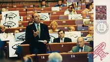 """Photo de presse Parlement européen """"M. CHIRAC / Essais Nucléaires Français"""" 1995"""