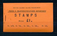 FOLLETO de 1960 británico Islas Salomón SB4 £ 1