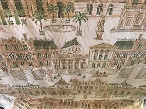 FRENCH CHATEAU STREET SCAPE  COTTON  DRAPERY UPHOLSTERY FABRIC