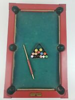Vintage Gotham Pressed Steel Corp Little Giant Line Miniature Pool Table w/ Que