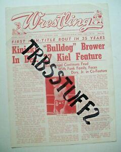 ST LOUIS WRESTLING PROGRAM-12/27/68 NWA CHAMP KINISKI! DORY JR. & TERRY FUNK