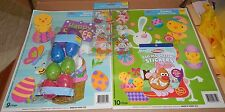 Easter Mix Lot 19 Window Clings 8 Treat Eggs 11 Stickers 4shee Egg Stickers 114K