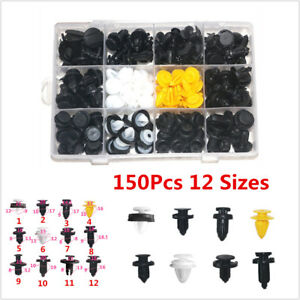 150Pcs Car Door Panels Bumper Cover Fender Automotive Plastic Fasteners Assorted