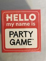 Hello My Name Is Party Game By Ceaco New