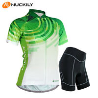 Womens Cycling Bike Short Sleeve Clothing Bicycle Sports Wear Set Jersey Shorts