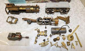 Vintage Tenshodo 4-4-2 Steam Locomotive & Tender Parts or Repair Brass HO Scale