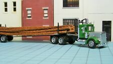 HO scale tractor trailer, Herpa, log carrier