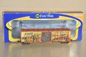 EXACTRAIL EN-51302-5 N WEATHERED RAILBOX 5277 SD BOX CAR RBOX 1542 nv