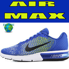 Nike Mens Size 10 Air Max Sequent 2 II Mens Running Shoes 852461 401 Blue/Yellow