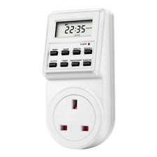 Timer Switch Socket Digital LCD Power Energy-saving Plug-in UK Socket 230V 13A