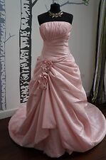 Wedding Dress Fantasy Style K48130 Shimmering Pink Satin Size 12 NEW RRP £869