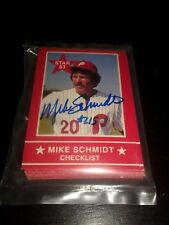 Mike Schmidt autographed  1983 Star company set-sealed bag-Exmt-Nrmt, Phillies