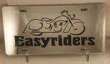 Easy Riders Motorcycle Arylic Mirror Laser Cut License Plate Novelty