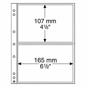 B-D-M Pack 10 hojas para billetes NUMIS 2C - Leuchtturm 338575