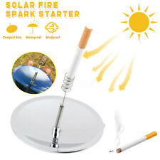 Solar Spark Lighter Outdoor Camping Hiking Fire Starter Emergency Survival Tool